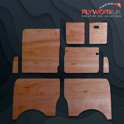 VW T5/T6 LWB 5.5mm QUALITY CNC FULL HEIGHT OFFSIDE PLY LINING PANEL KIT