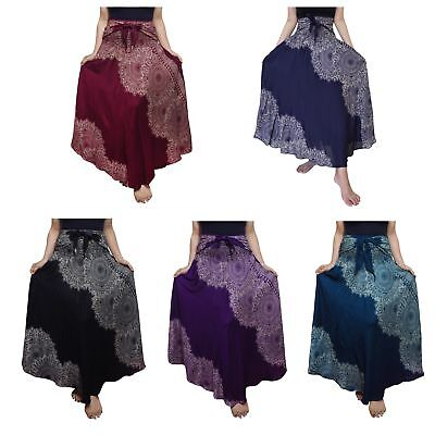 44fb09987953 Bohemian Skirt Dress Hippie Gypsy Maxi Summer Boho Yoga Leaf - USA FAST SHIP