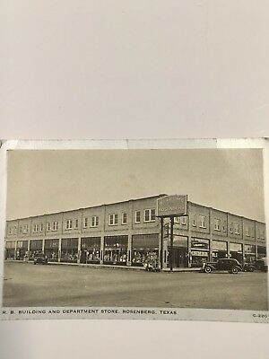 Rosenberg Texas  R. B. Building and Department store 1930s