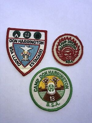 """3"" Old Don Harrington Camp Patches"