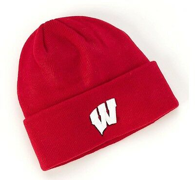 Ncaa Wisconsin Badgers Top Of The World Adult Stocking Knit Cap Osfa Bnwt
