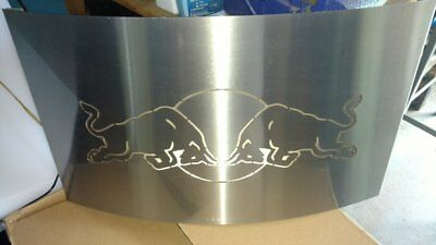 Red Bull Lighted Polished Aluminum Bar Sign from NASCAR team