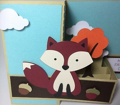 3D Fox Card. Handmade-Ideal For Father's Day, Thank You, Happy Birthday