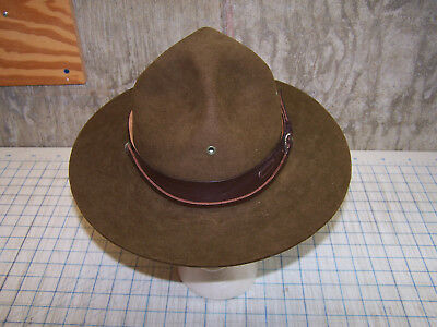 BSA Official Boy Scouts Leader Campaign Hat Size 7 1/8  Oval