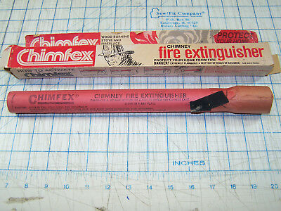 Vintage Chimfex Chimney Fire Extinguisher Brand New In Original Box