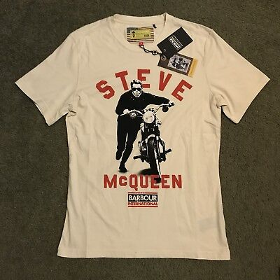 NWT Barbour International The Steve McQueen Collection Motorcycle Tshirt Size M