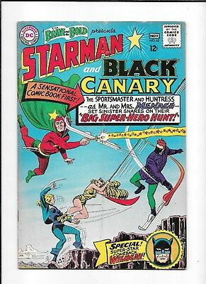 The Brave And The Bold #62 ==> Vg Origin Of Starman & Black Canary Dc 1965