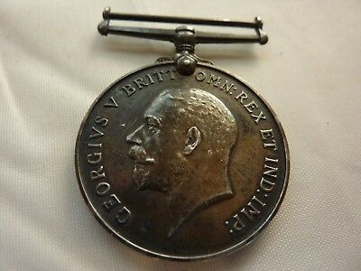 Ww1 Silver Medal- 1914-1918 Great Britain W/ George V (Inscribed/numbered)