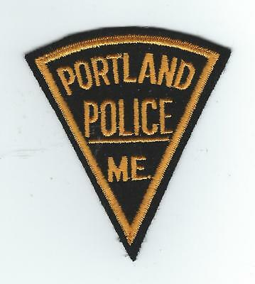 VINTAGE PORTLAND, MAINE POLICE(EMBROIDERED ON WOOL/FELT) patch
