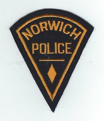 VINTAGE NORWICH, CONNECTICUT POLICE(EMBROIDERED ON WOOL/FELT) patch
