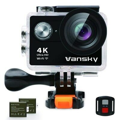 Action Camera 4K Waterproof WiFi Vansky Ultra HD Sport Camera 2 Inch LCD Screen