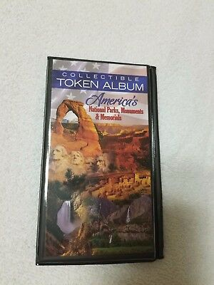 Collectible National Park, Monument & Memorial Token Album, Holds 30 pc.