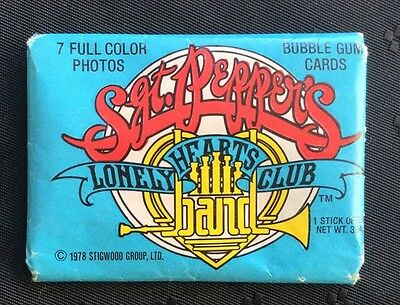 Sgt Pepper's Lonely Hearts Band Bubble Gum Cards Pack Donruss Beatles UNOPENED