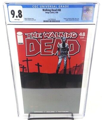 The Walking Dead #48 CGC 9.8 Death of Alice, Judith, Hershel and The Governor