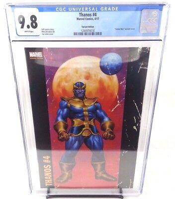 Thanos #4 Joe Jusko Corner Box Variant Cover CGC 9.8