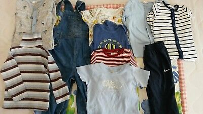 Baby Boys Bundle  Clothes Nike Next M & Co Marks and Spencer 12-18 months