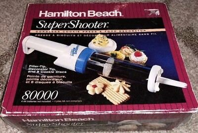 Hamilton Beach Super Shooter 80000 8 Discs Cordless Cookie Press Food Decorator