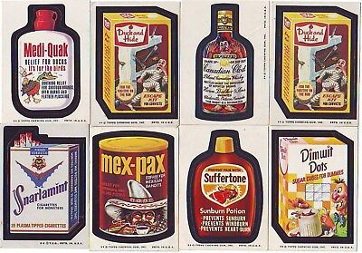 1973-77 Topps Original Wacky Packages 19 Different Stickers With Medi Quak