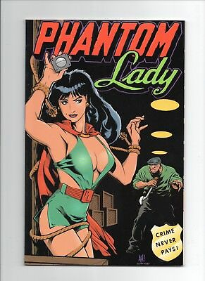 PHANTOM LADY Crime Never Pays TPB Verotik 1994 htf ADAM HUGHES AH! Cover