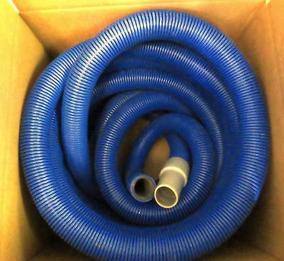 "40' Industrial Commercial Janitorial Flex Vacuum Hose Blue 1.5"" w/ Cuff 18506"