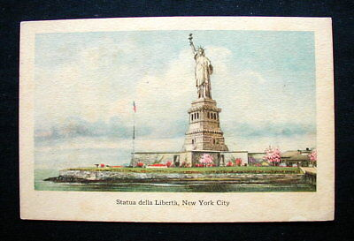 1920s Italy RARE YMCA postcard NEW YORK Statue of Liberty