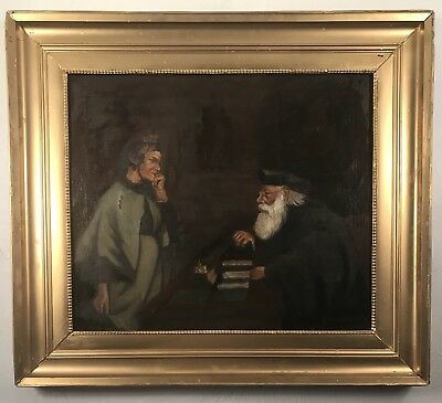 1800's European antique painting.  Signed Brooker, 1875. May be Harry Brooker??