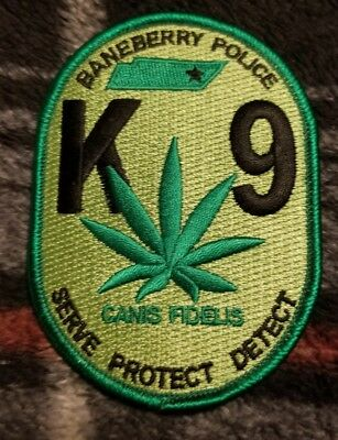 Police Patch Baneberry Tn K9 (Free Shipping)
