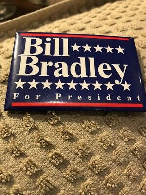 Bill BRADLEY pin For President Political Button