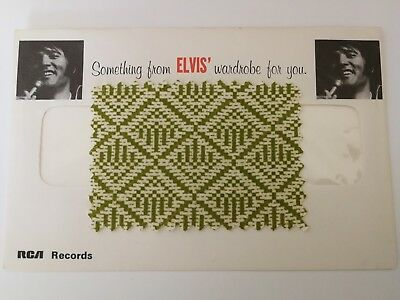 Elvis Worn Clothing Swatch Original Envelope From Elvis Wardrobe The Other Sides