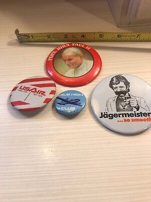 "POPE   JOHN  PAUL II  3""PINBACK  BUTTON  Used"