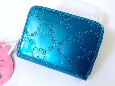 Hello Kitty Embossed Teal Mini Wallet Loungefly Sanrio Licensed y11