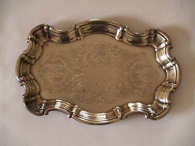 Small Silver Plated Tray for serving drinks