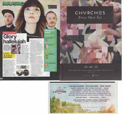CHVRCHES : CUTTINGS COLLECTION -adverts-