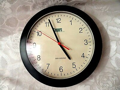 Vintage Plastic Frame Wall Clock Coopers of Stortford Radio Controlled D - 25 cm