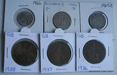 6 X Mixed World Coin's General Mix Modern World In 2X2 Holders #qan20