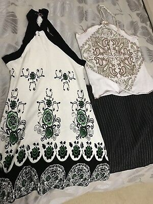 Ladies Skirt And 2 X Tops Size Small 8-10