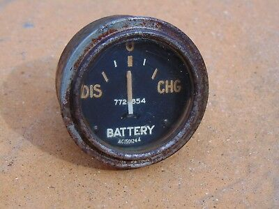 Vintage AMC Army Truck Dashboard Battery Gauge Classic USA Cold War 7728854