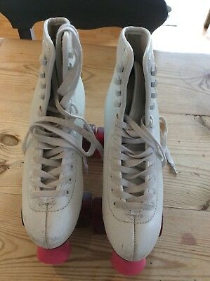 Freespirit Roller Boots size 38 white and pink good used condition.