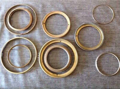 Antique Clock Bezels Doors Frames Collection From Clockmakers Spare Parts