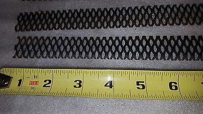 """Lot of 4 pieces MMO coated expanded titanium mesh anodes - 1"""" x 10"""""""