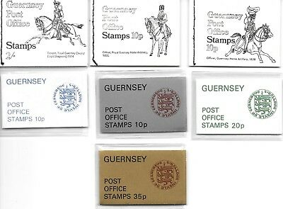 Guernsey Stamp Booklets x 7. 1969/1971/1974.