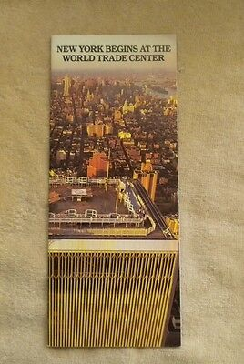 World Trade Center -  Twin Towers - 9/11 - WTC - New York Begins Brochure - 1988