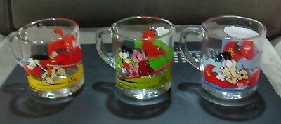 Garfield McDonalds Glass Mugs 1978 Jim Davis Set Of 3