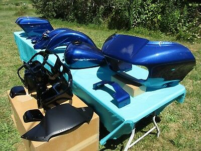 Oem 2016 Harley Road Glide Special Paint Set - Superior Blue - Very Complete