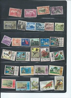 Trinidad & Tobago stamps.  Small used lot. Mainly early QEII (C801)