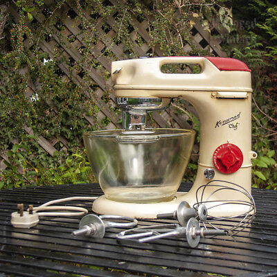 Rare Vintage 1950s KENWOOD Chef A700.D Model with Glass Bowl & Tools FREE UK P&P
