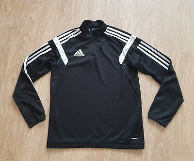 Boys Adidas Climacool tracksuit top Youth XL Age 14 Years Black/white
