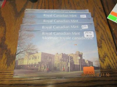 Pickers Delight Lot of 5/Five Canada 1975 6 Coin Uncirculated Mint Sets. #TF-816