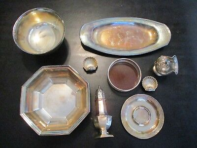 Lot Of Misc Silverplate Items Wallace Revere Sheffield Regis Oneida Etc