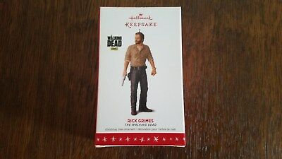 Hallmark 2016 Rick Grimes The Walking Dead Keepsake Ornament Christmas Tree